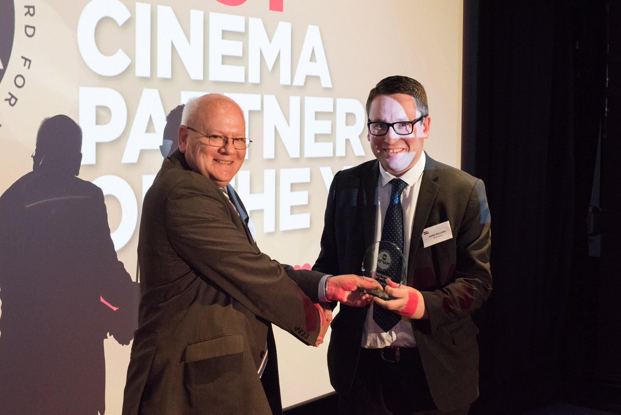 """WTW are awarded cinema partner of the year at More2Screen's """"Mafta's"""" recognising their commitment to the delivery of event cinema and live transmissions."""